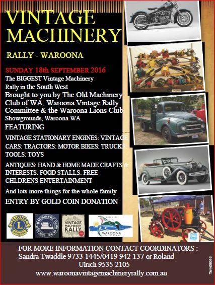 Waroona Vintage Rally 2016 @ showgrounds Waronna | Waroona | Western Australia | Australia