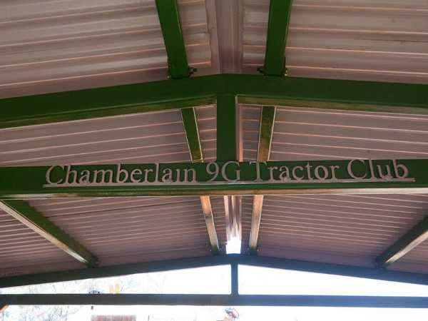 Shed roof complete with Club name